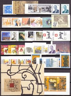 Belgium 1997 - Composition non-perforated stamps and booklet (Bijen van Buzin) and block (Horta museum) with back number