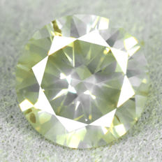 Diamond - 1.22 ct - Natural Fancy Light Greyish Yellow, NO RESERVE PRICE