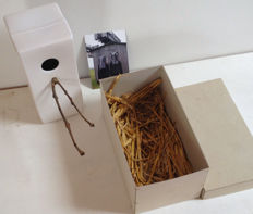 Doreen Westphal (Krejci Lab Amsterdam) - ceramic designer bird house with branch