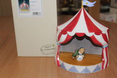Rodenthal - Miniature circus tent with acrobat figureine, like new, in its original box