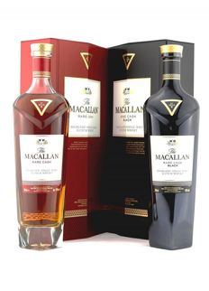 2 bottles - Macallan rare cask red & Macallan rare cask black limited edition, 2 bottles in total (2 x 700ml)