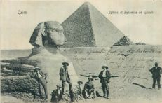 Egypt - Batch of 40 old postcards - the sphinx and the pyramids, young women, Cairo, Port Said, Aswan, Alexandria,