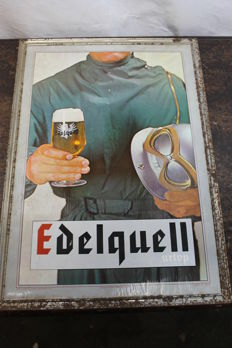 Urtyp edelquell - rare advertising sign - 1960