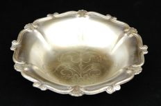 Antique Silver Plated Footed Bowl, European, Late 19th Century