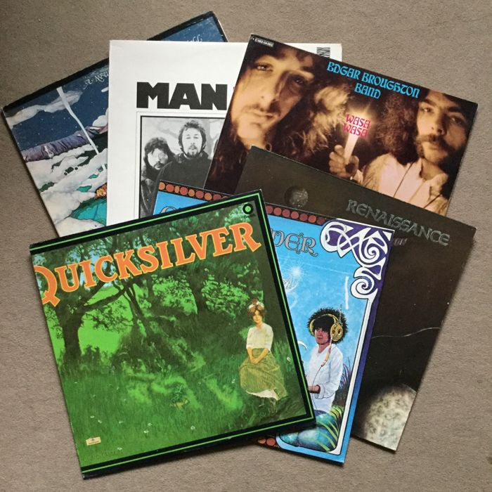 Lot of 6 fantastic progressive rock albums from the 70s