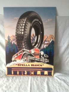 Bertoglio - Pirelli - Stella Bianca - reproduction from 1975 of original from 1935 - 94 x 67 cm