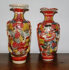 Two Satsuma vases - Japan - First half 20th century