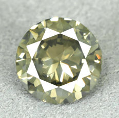 Diamond – 1.15 ct, VS2 – Natural Fancy Intense Greenish Yellow