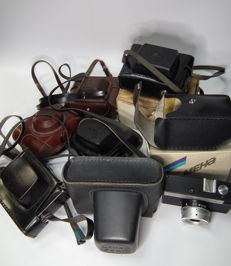 7 cameras USSR/Russia, in the bag