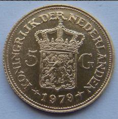 Netherlands - 5 Gulden medal 1979 '70th Birthday of H.M. Juliana' - gold