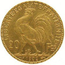 France - 20 francs 1902, Marianne liberty head - gold