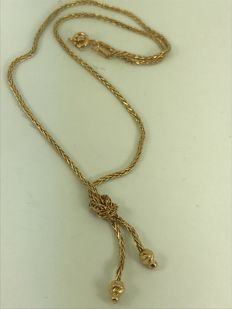Unusual vintage design gold necklace size 45cm