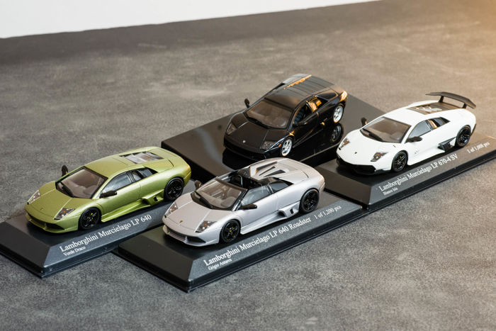 Autoart Minichamps Scale 1 43 Lot With 4 Models Lamborghini