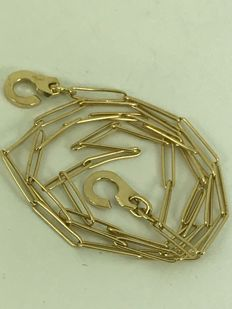 Handcuffs 18k gold necklace, size 46cm
