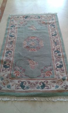 CHINESE AUBUSSON WOOL RUG,