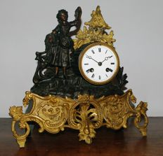 Franse Pendule verguld - Japy Freres - Periode 1860