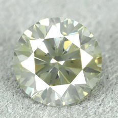 Diamond - 0.72 ct, Si1 - Natural Fancy Greenish Yellow