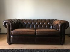 Original Chesterfield sofa set, by Salvale Design Ltd. for Chesterfield, colour Brockston 107, 1987