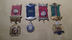 Masonic orders 3 medals and ribbon