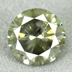 Diamond – 2.03 ct – Natural Fancy Intense Yellowish Green – VG/VG/VG