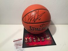Bulls Dennis Rodman Authentic Signed Basketball Autographed JSA certification  in Display Case Vitrine + COA