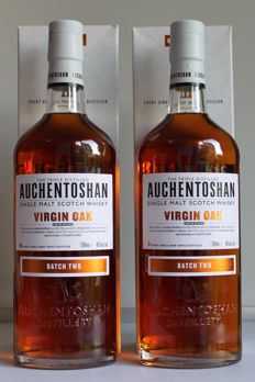2 bottles - Auchentoshan Virgin Oak - Batch Two - Limited Release