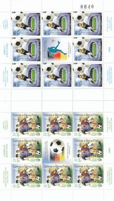 Yugoslavia - 2006 Football championship in Germany complet sheet