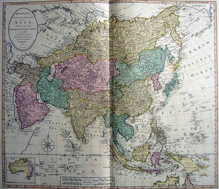 Asia, Asia; Bowles - Bowles's New One Sheet Map of Asia - 1781-1800