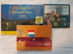 Luxembourg - Official Divisionals - 2002, 2003, 2004 - 32 Coins + 4 Stamps
