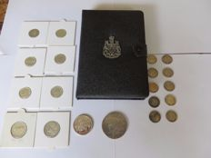 Canada and United States - Lot with various coins 1926/1967 (20 pieces) silver + Year pack 1977