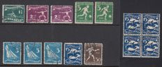 The Netherlands 1928 - Eleven plate errors Olympiad