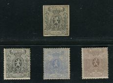 Belgium 1866/1867 - Small lion - OBP 22 - 23A - 24A - 25A