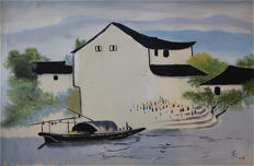Oil painting《吴冠中-油画》 - China - late 20th century