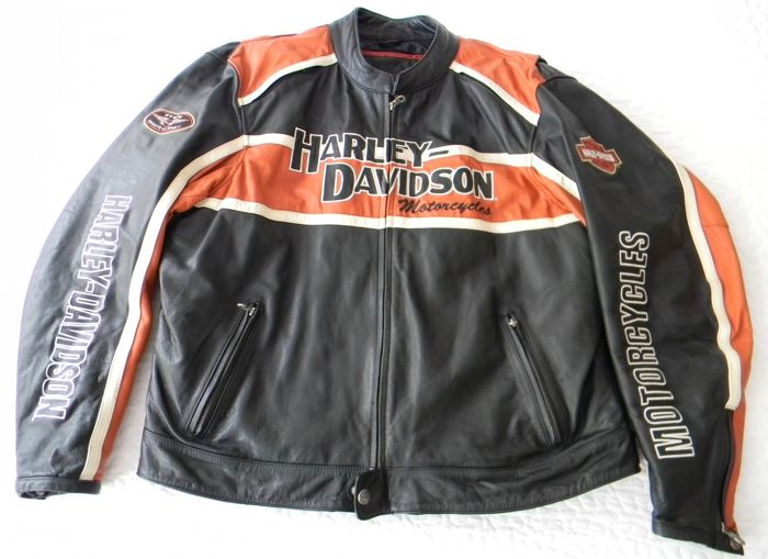 blouson d t original harley davidson en cuir taille xxl catawiki. Black Bedroom Furniture Sets. Home Design Ideas