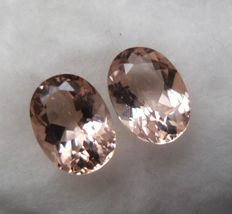 Morganite Matching Pair – 3.87 ct Total