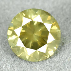 Diamond - 1.25 ct, VS2 - Natural Fancy Vivid Greenish Yellow