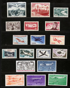 France 1930/1987 – Batch of Airmail stamps - between Yvert Airmail no. 5 and 60.