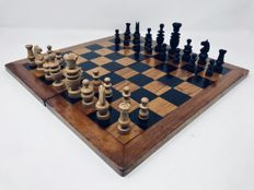 Old Regence chess with board of the period