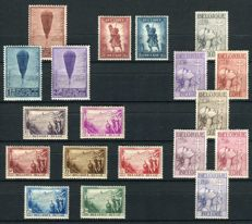 "Belgium 1932/1933 - selection of 4 series, among others, ""Infantry"" and ""Cross of Lorraine"" - OBP 351/383"
