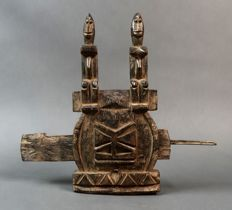 Ancestor figures grain door lock - DOGON - Mali