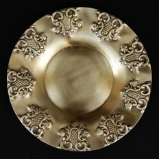 Antique Gold Plated Plate, Continental, early 20th Century