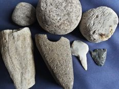 Neolithic to early Bronze Age stone tools,  -  (7 pcs)