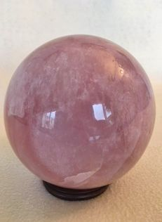 Large Rose Quartz Sphere - Extra Quality - 16 cm - 4560 gm