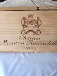 2002 Chateau Mouton Rothschild 1er Grand Cru Pauillac - 9 bottles (75cl)
