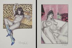 Art print; Lot with 2 erotic prints by Giovanna Casotto - 2014