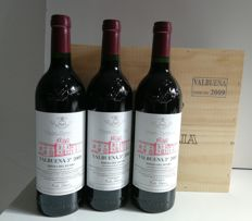 2009 Vega Sicilia - Valbuena 5º year - 3 bottles (75cl) in OWC