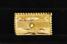 Antique 14 karat gold book from a West Fries head piece - pin