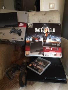 Sony Playstation 3 SLIM 320GB, Controller and Battlefield 3 game. Incl all the original cases and cables.