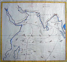 Indian Ocean; Sayer & Bennett - A Chart of the Currents in the Indian Sea - 1778