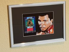 Muhammad Ali (RIP) - Extreme Ultra Limited Edition 07/25 Framed original event worn piece of clothes incl. Leaf COA